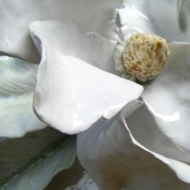 pannello a rilievo magnolia bianca