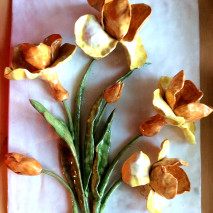 panel with orange and yellow iris
